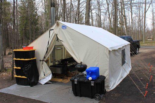 Wall Tent with door open
