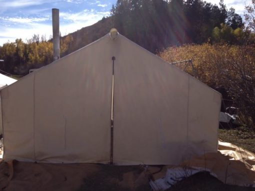 Wall tent front