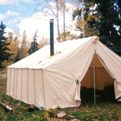 Canvas Tent in the autumn