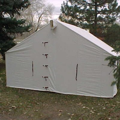 Front of wall tent