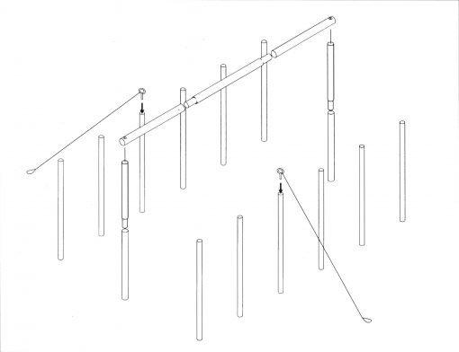 Assembling tent poles