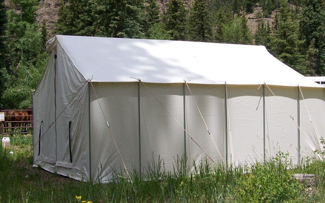 Canvas Wall Tent with horses
