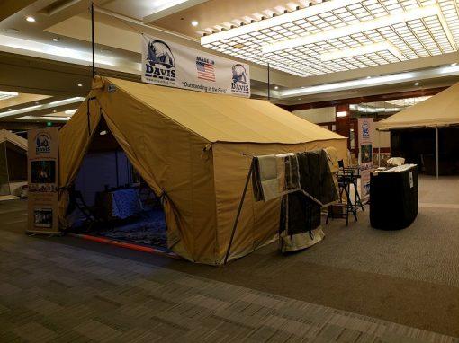 Tent in showroom