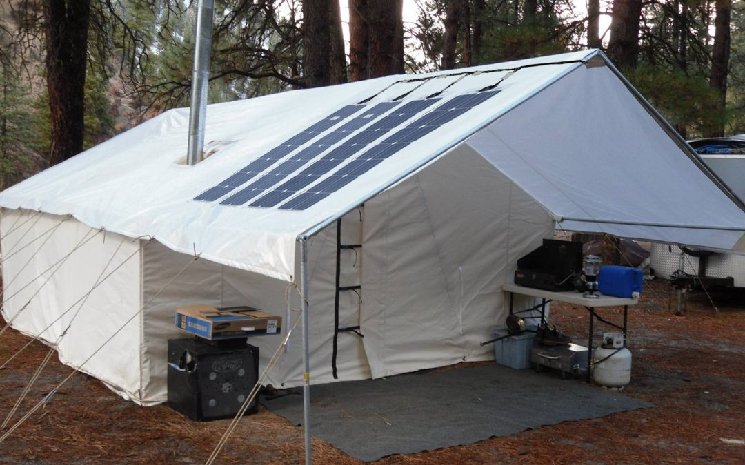 Solar Power for Canvas Wall Tents