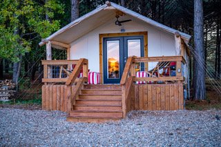 Glamping Tent on a deck