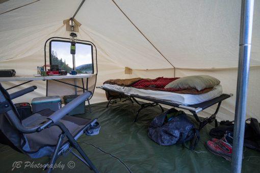 inside Go Tent